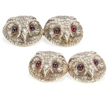 Wise In All Ways: Vintage Owl Silver Cufflinks