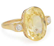 Vintage Moonlight: Yellow Sapphire Diamond Ring