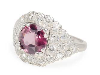 Exceptional Taste: Striking Spinel & Diamond Ring