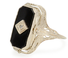 In the Mood: Art Deco Onyx Citrine Flip Ring