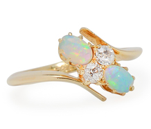 Prismatic Play: English Opal Diamond Ring