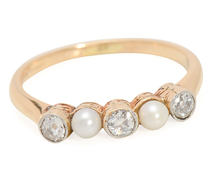 Sea & Stars - Vintage Diamonds & Pearl Ring
