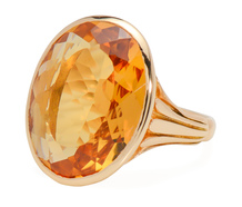 Blossoming Bud: Vintage Citrine Ring