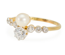 Feminine Fantasy: Vintage Diamond Pearl Ring