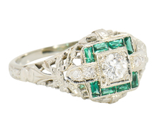 Signature Diamond Emerald Engagement Ring