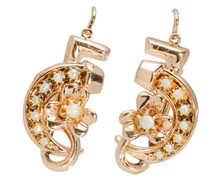 Luck Incarnate: Vintage Pearl Set Rose Gold Earrings