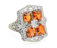 On Fire: Vintage Citrine Ring