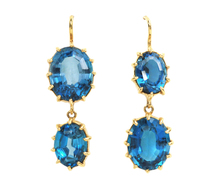 Renee Lewis Blue Topaz Drop Earrings