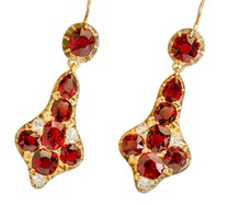 Victorian Dance: Garnet Diamond Earrings