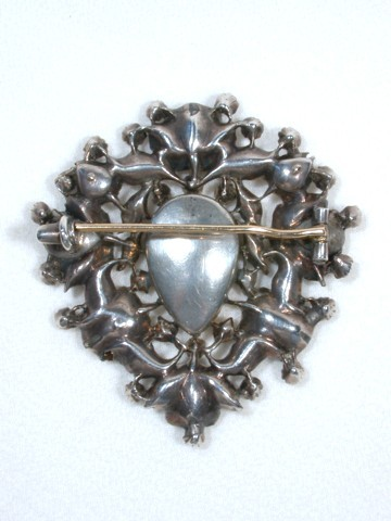 Antique Topaz & Diamond Brooch