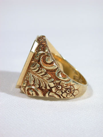 August Man's Gold Ring