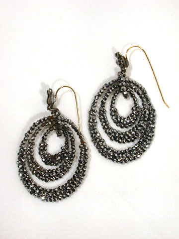 Mercurial Light  -  Antique Cut Steel Earrings