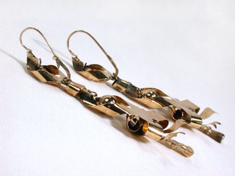 Georgian Antique Bow Gold Earrings