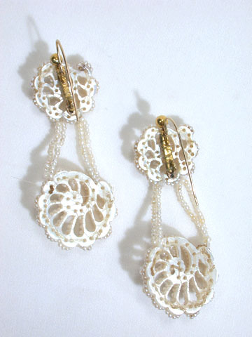 Perfection of the Sea: Shell Motif Antique Earrings