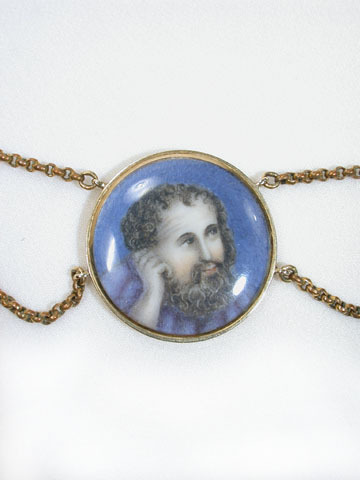 Georgian Literary Portrait Festoon Necklace