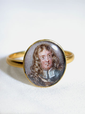 Miniature Portrait Early 18th C. Ring