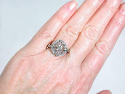 Gossamer Circle of Light  -  Antique Diamond Ring