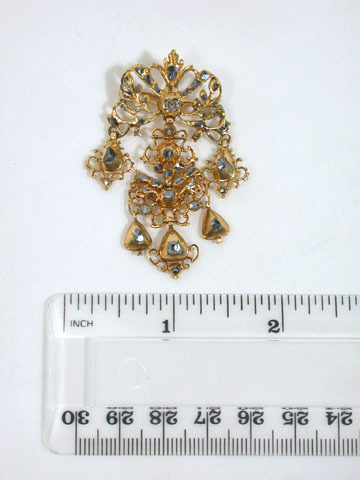 Oro de España - 18th C. Diamond Pendant