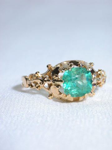 Renaissance Flair - Antique Victorian Emerald Ring