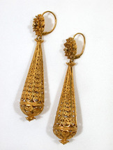 Oh What Cages of Gold - Cannetille Earrings