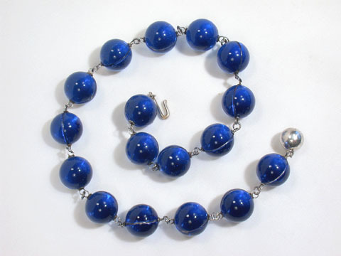 Bluer Than Blue - Pools of Light Necklace