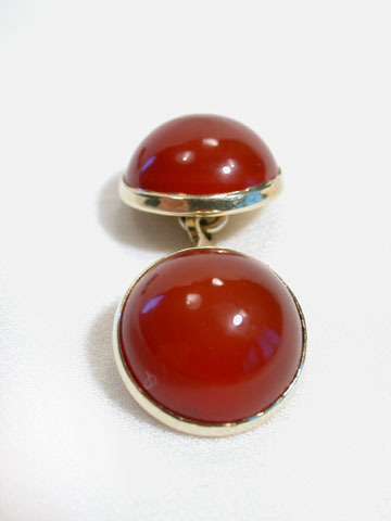 Antique Edwardian Cabochon Carnelian Cufflinks