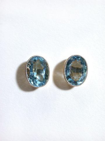 Antique Aquamarine Earrings