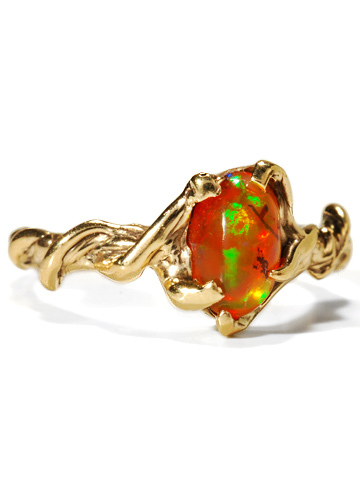 Images Of Modernist Mexican Fire Opal Ring The Three Graces