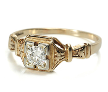 Sigh: Edwardian Solitaire Diamond Ring