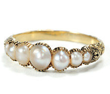 Perfection: Georgian Pearl Ring