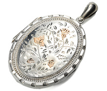 Traditional Victorian Silver Locket