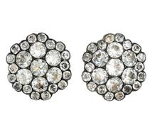 Scarce Georgian Black Dot Paste Earrings