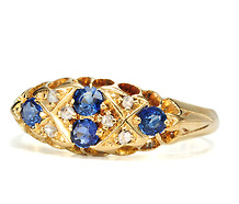 Edwardian Enchantment in a Sapphire Diamond Ring