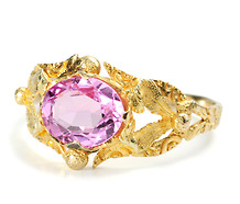 Georgian Jewel of a Pink Topaz Ring