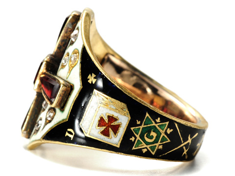 Mystery Amp Virtue Rare Masonic Knights Templar Ring The