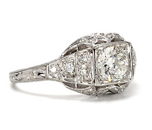 Art Deco Holidays in a Diamond Ring