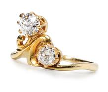 Regal Diamond Crossover Ring