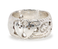 Wide Antique Silver Wedding Band