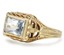 Half Moon Bay: Art Deco Aquamarine Ring
