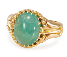 Swirling Emerald Cabochon Ring