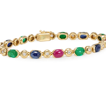 Signed Chantecler Gem & Diamond Bracelet