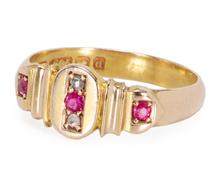 A Treat of a 1903 English Ruby Diamond Ring