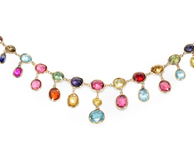 Antique Rainbow of Precious Gems Necklace