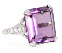 Hollywood Glam - Amethyst Diamond Ring