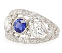 Fantasy to Reality - Sapphire & Diamond Ring