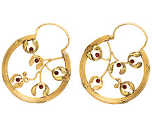 French Sensation: Gold Hoop Earrings
