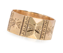 Very Wide Victorian Engraved Band