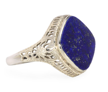 Starlit Sky in a Vintage Lapis Ring