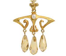 Dynamic Art Nouveau Pendant