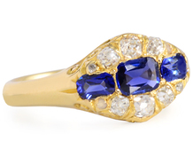 Antique Edwardian Sapphire Diamond Ring